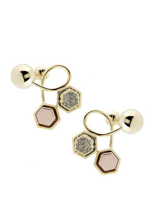 Giuliana Mancinelli Bonafaccia-Gold-Plated Brass Earrings