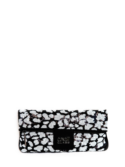 Winona Fold Over Sequenced Clutch, CLASS ROBERTO CAVALLI - elilhaam.com