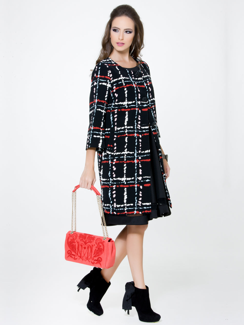 Square Prints Coat, CJF - elilhaam.com