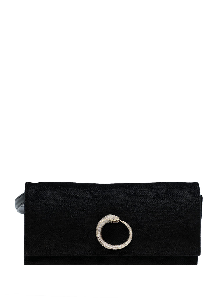 Black Velvet Medium Shoulder Bag