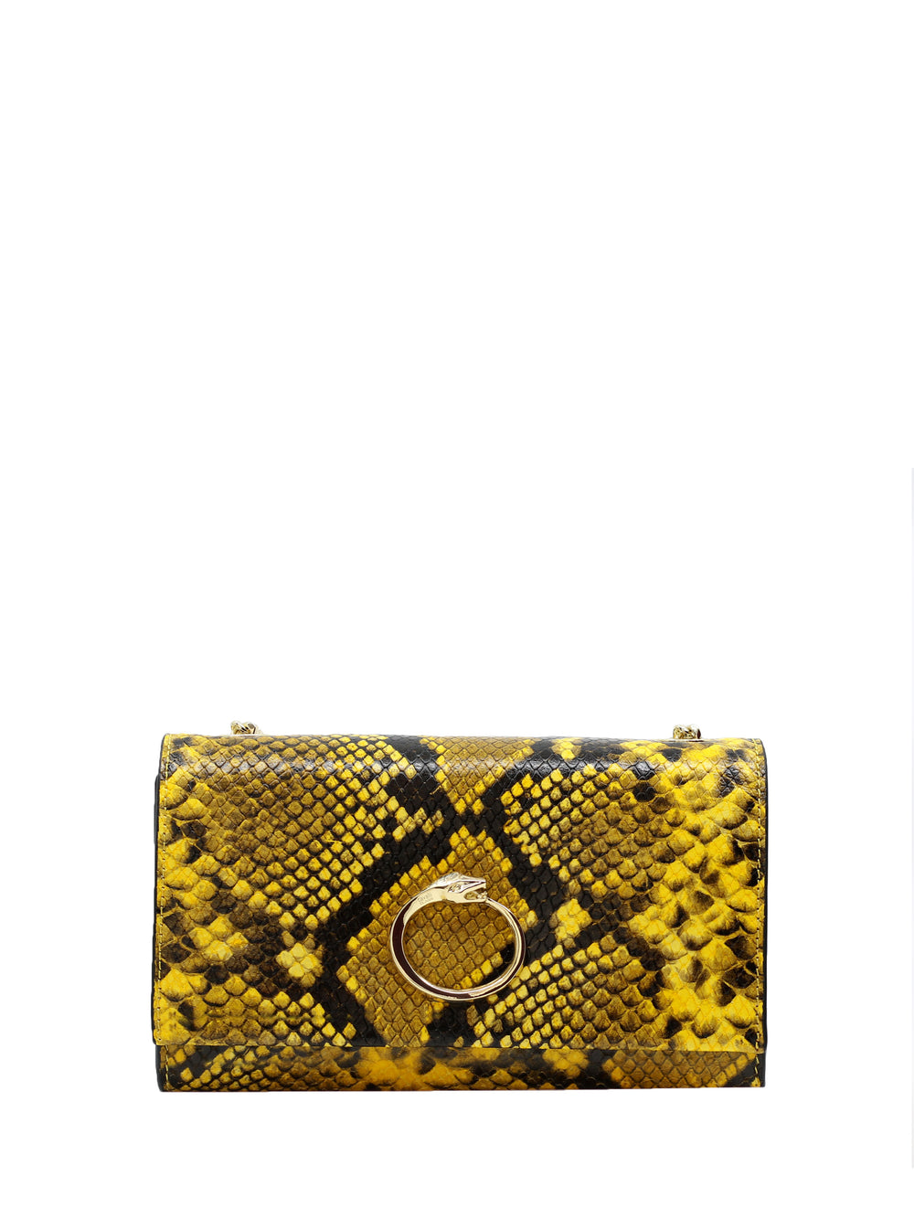 Yellow Small Shoulder Glitter Bag