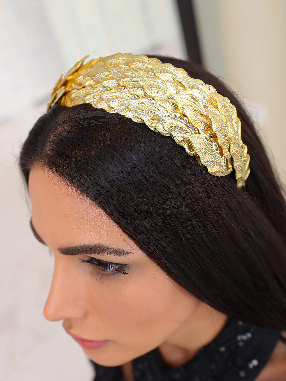 Caesar Gold Leaf Headband