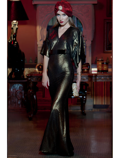 Golden Show Stopper Dress, MOONOIR - elilhaam.com