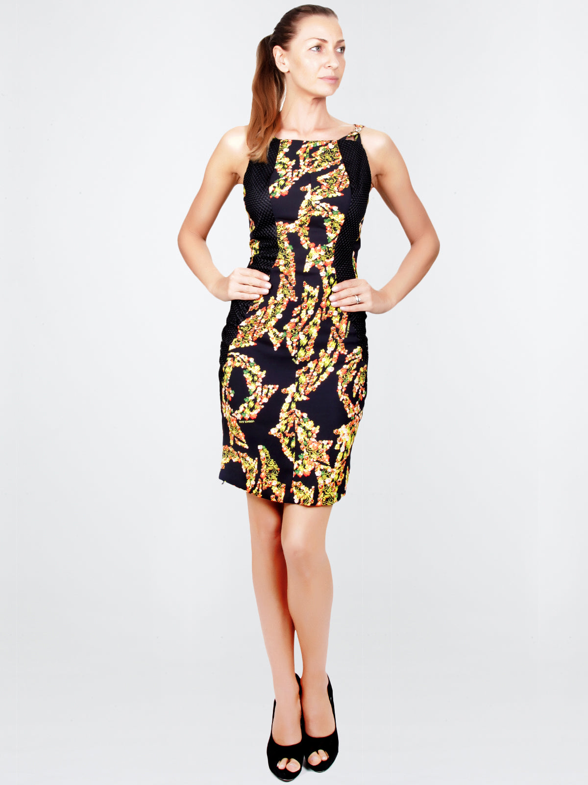 VERSACE JEANS-Barocco Garden Body Con Dress – Elilhaam b0303fca7d8