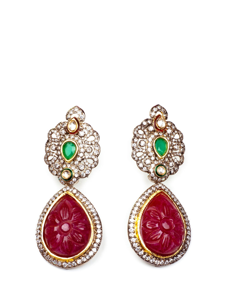 Princess Carves Earrings stones, KOUKLA - elilhaam.com