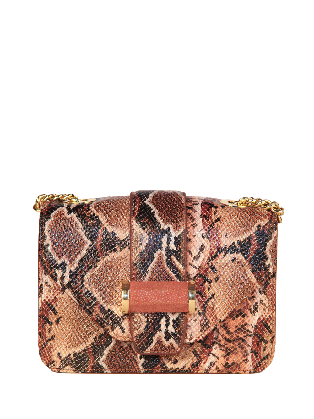 Snake-Embossed Classic Shoulder Bag, IVANKA - elilhaam.com
