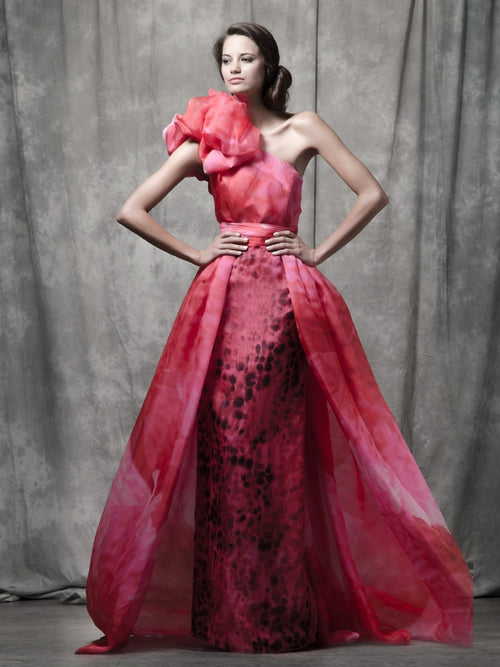 Adelia Printed Train Gown, ISABEL SANCHIS - elilhaam.com