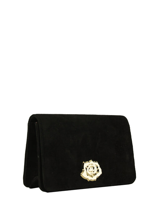 Black Suede Clutch Bag