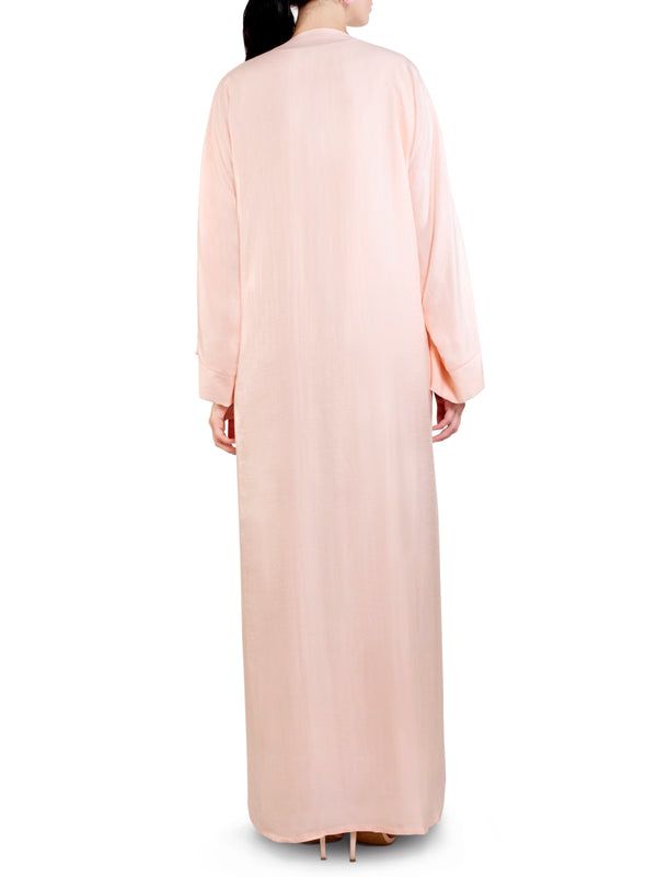 Embroidered Blush Pocket Abaya