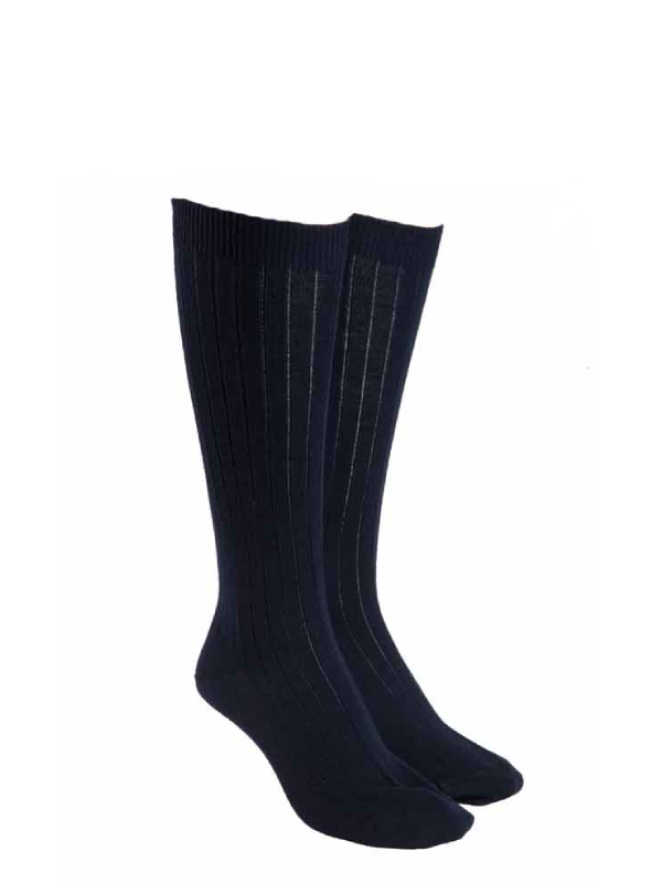 Navy Knee High Wool Socks