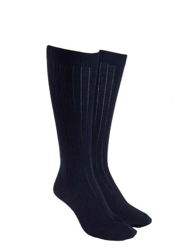 Black Knee high wool socks