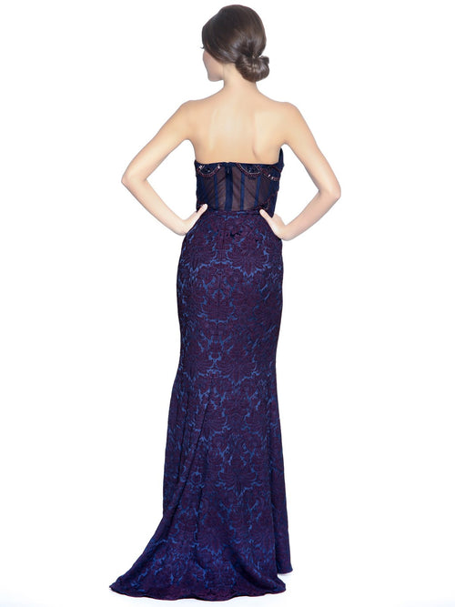 Beaded Corset Gown, BADGLEY MISCHKA - elilhaam.com