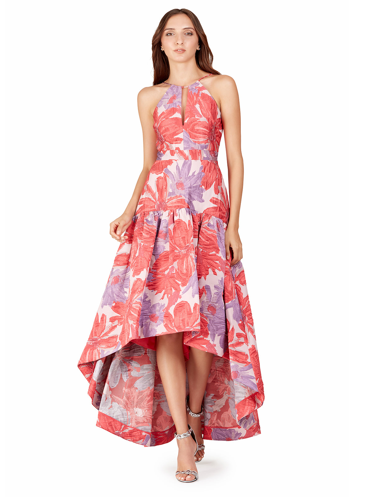 Coral High-Low Gown – Elilhaam