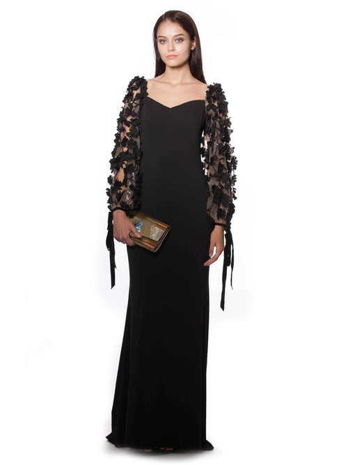 Odessa Embellished Sleeves Gown, BADGLEY MISCHKA - elilhaam.com
