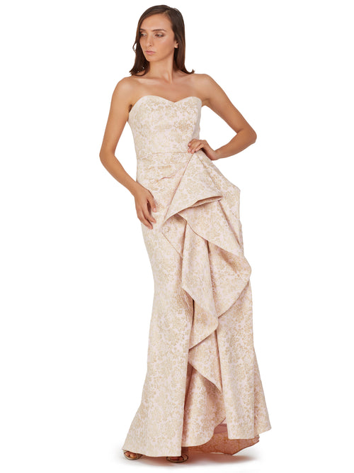 Sculptural Ruffle Gown