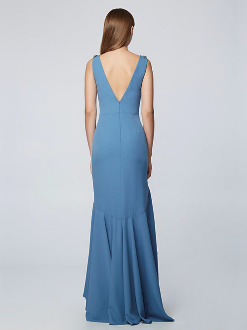 Sleeveless High-Low Gown