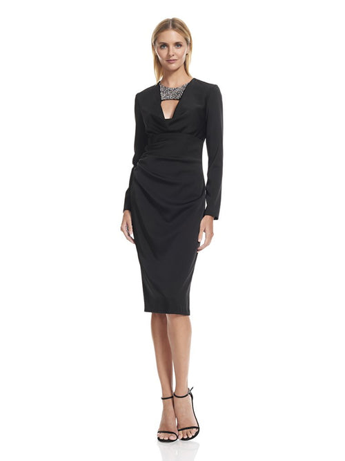 Long Sleeve Black Dress, DAVID MEISTER - elilhaam.com
