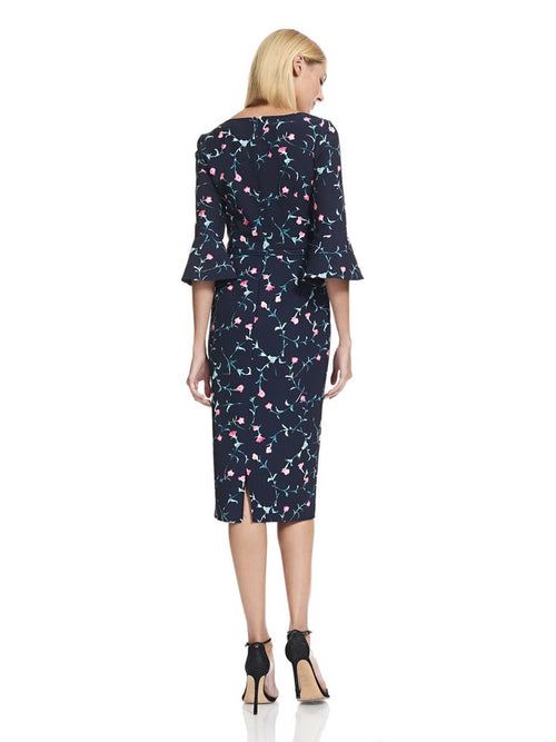 Floral Crepe Sheath Dress, DAVID MEISTER - elilhaam.com