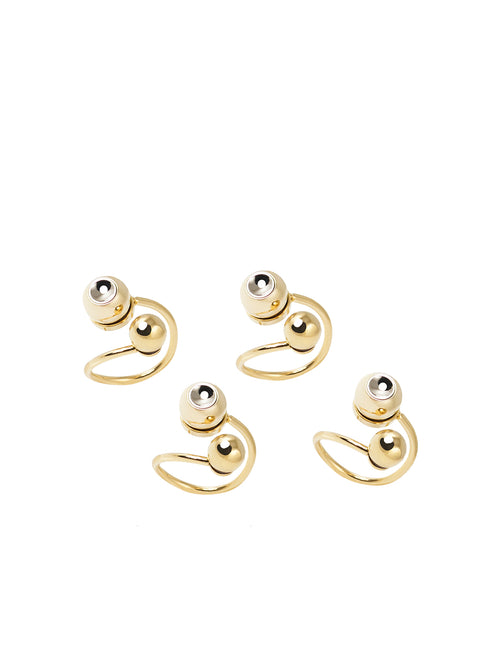 Brass Ring Set, GIULIANA MANCINELLI BONAFACCIA - elilhaam.com