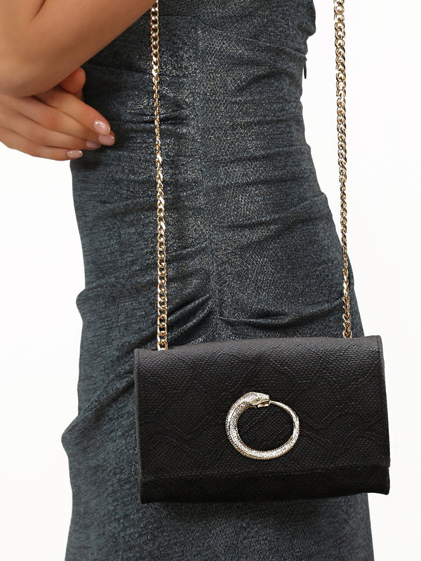 Grey Velvet Shoulder Bag