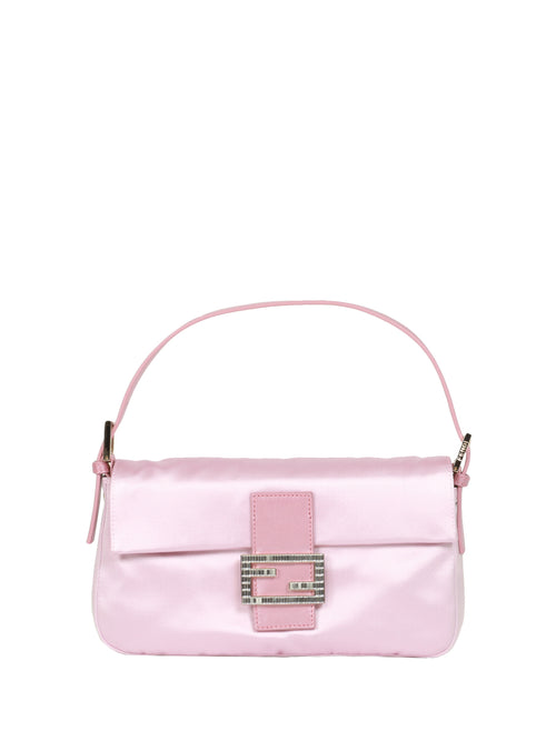 Fendi Women's Leather Shoulder Bag Pink