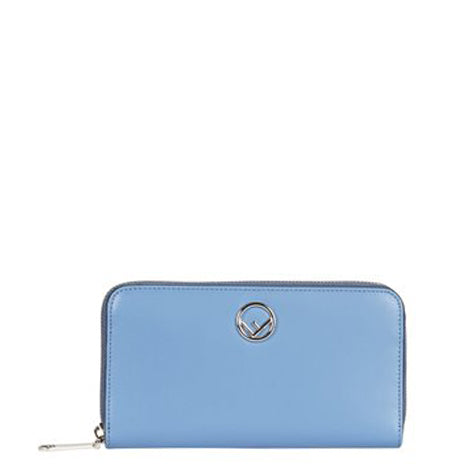 Light Blue Leather Wallet