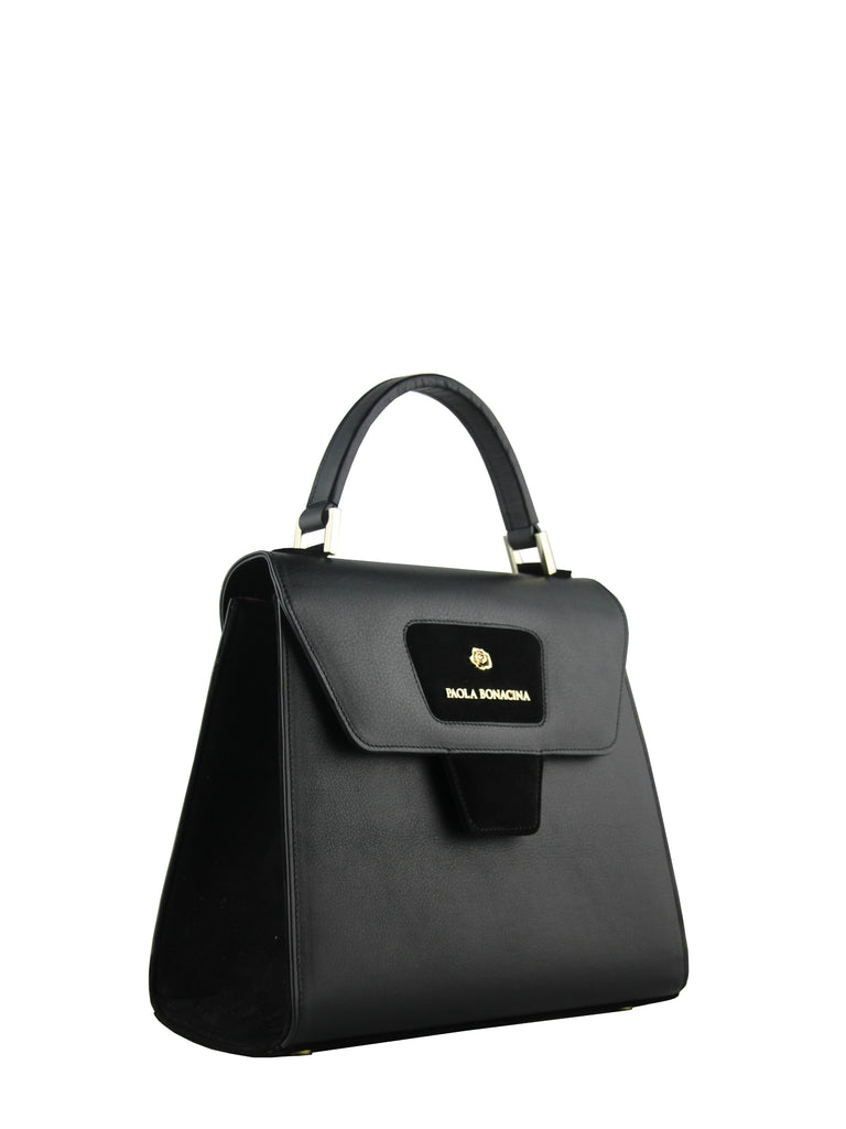 Black Grace Top Handle Bag