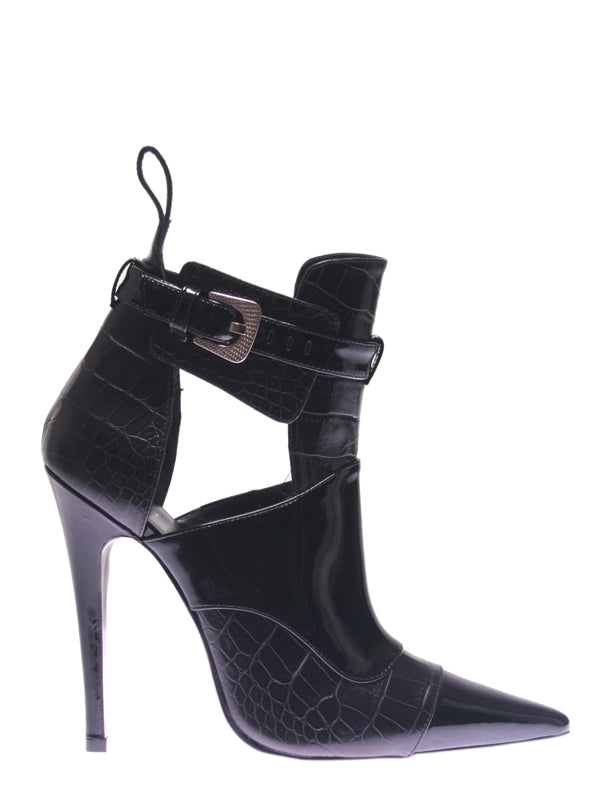Black Leather Ankle Boot, GUY LAROCHE - elilhaam.com