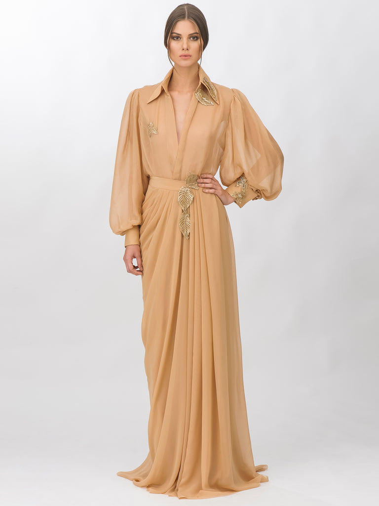 Chiffon Shirt And Long Skirt