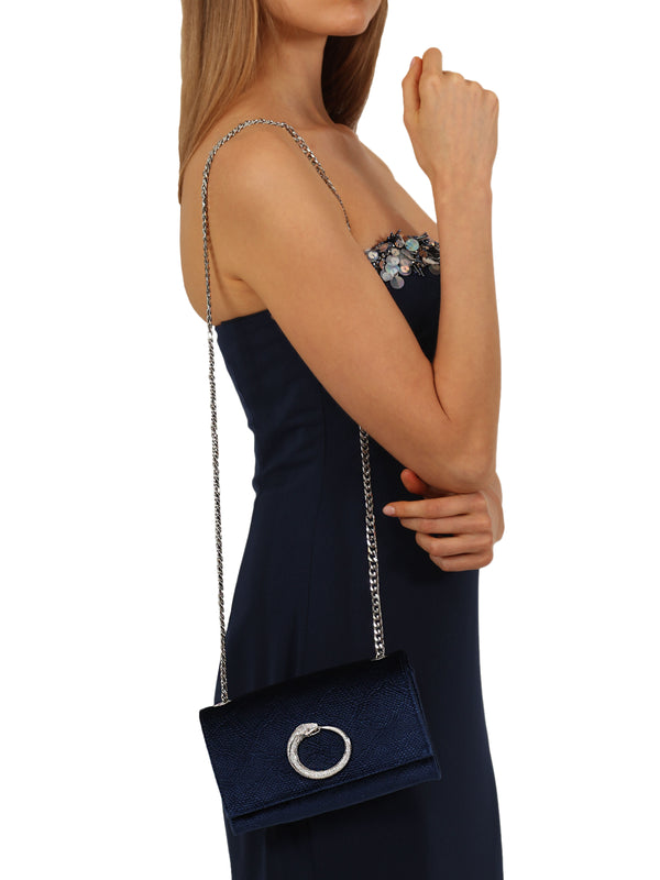 Blue Velvet  Shoulder Bag