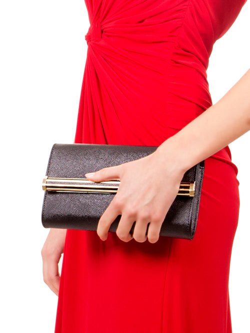 Black Onyx Clutch, IVANKA - elilhaam.com