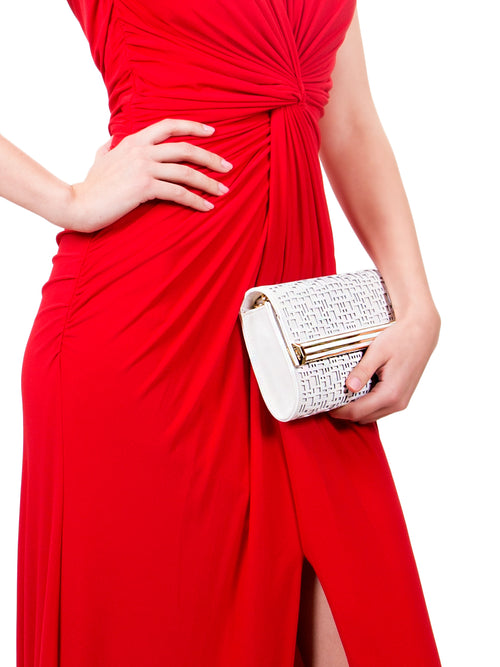 Textured Diamond Clutch, IVANKA - elilhaam.com