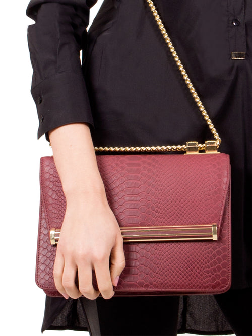 Ruby Hexagon Shoulder Bag, IVANKA - elilhaam.com