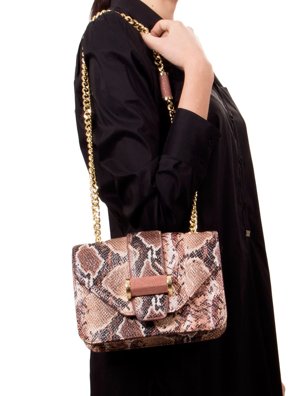 Faux Phython Shoulder Bag, IVANKA - elilhaam.com
