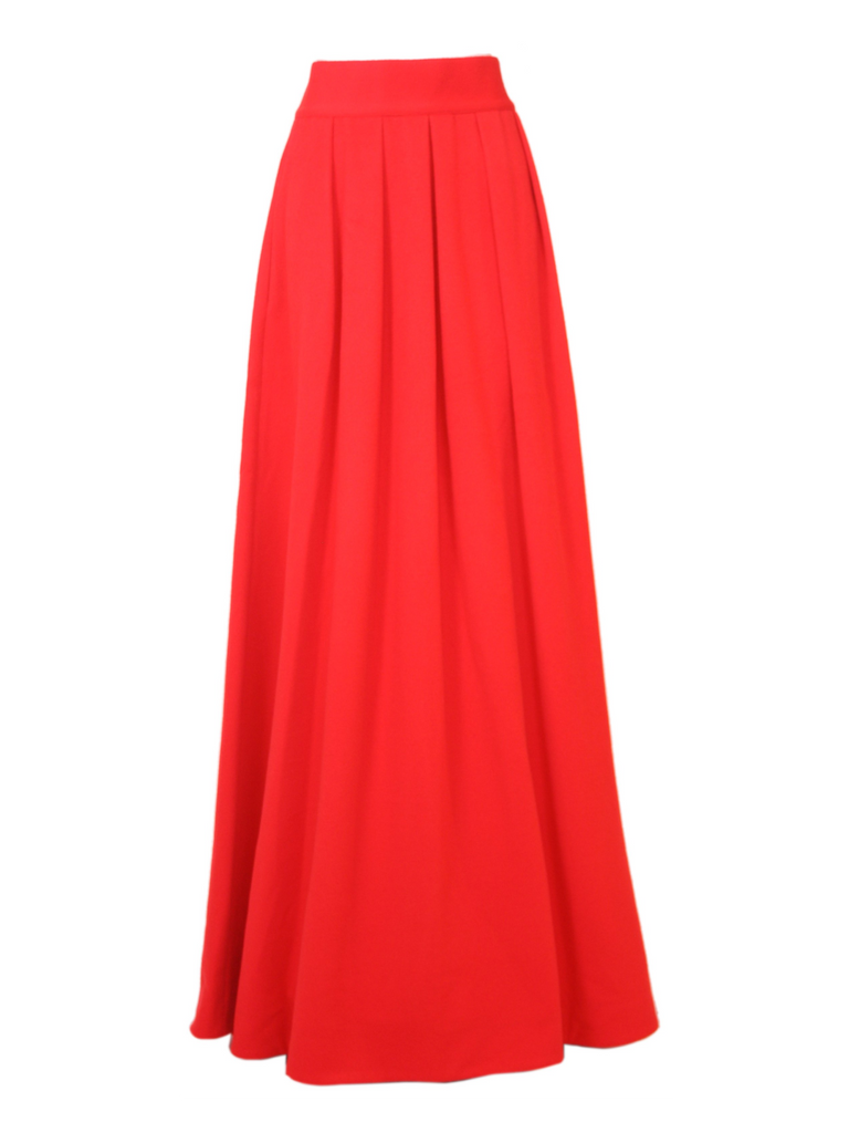 Red Wool & Cashmere Donjon Skirt