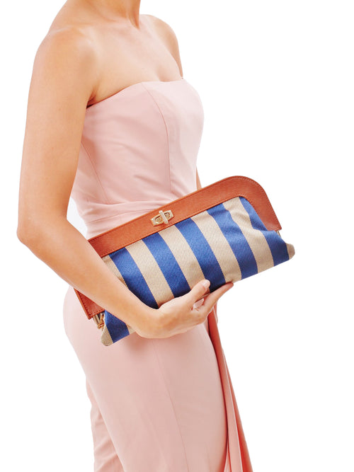 Woven Stripe Ivanka Clutch, IVANKA TRUMP - elilhaam.com