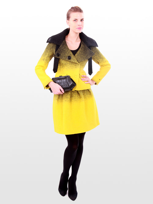 Two Toned Yellow Wool Jacket