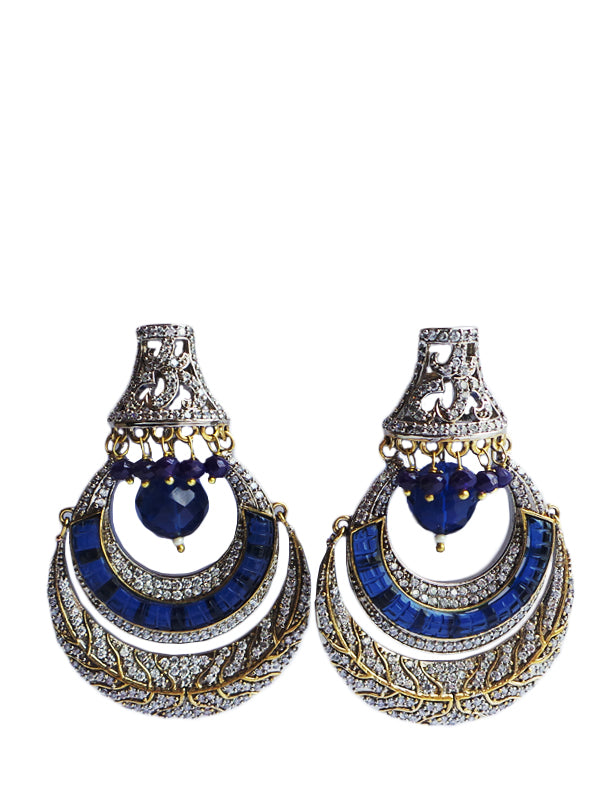 Queen Earrings with Saphire