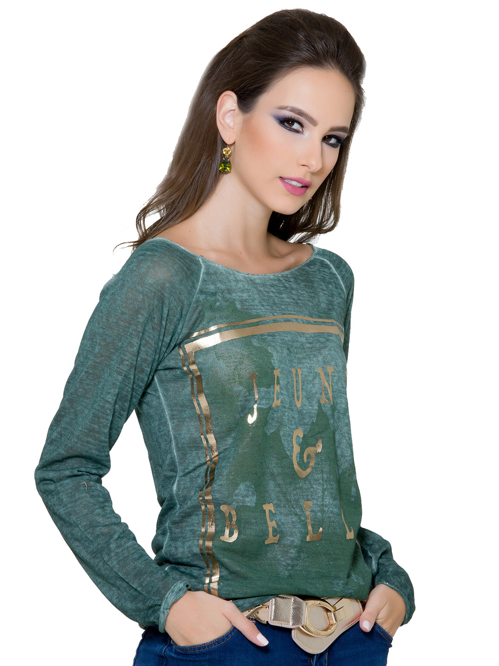 Forest Green Top, CJF - elilhaam.com