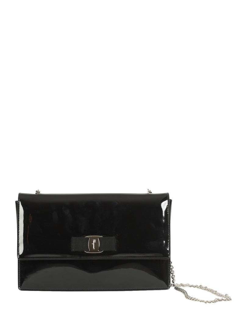 Black Vara Flap Bag, SALVATORE FERRAGAMO - elilhaam.com
