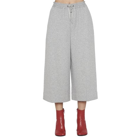 Grey Cropped Track Pants