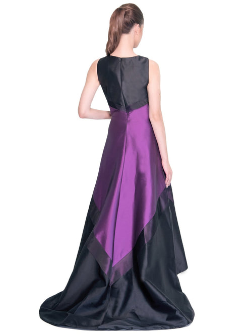 Sleeveless Bateau Neckline Hi-Lo Gown, THEIA - elilhaam.com