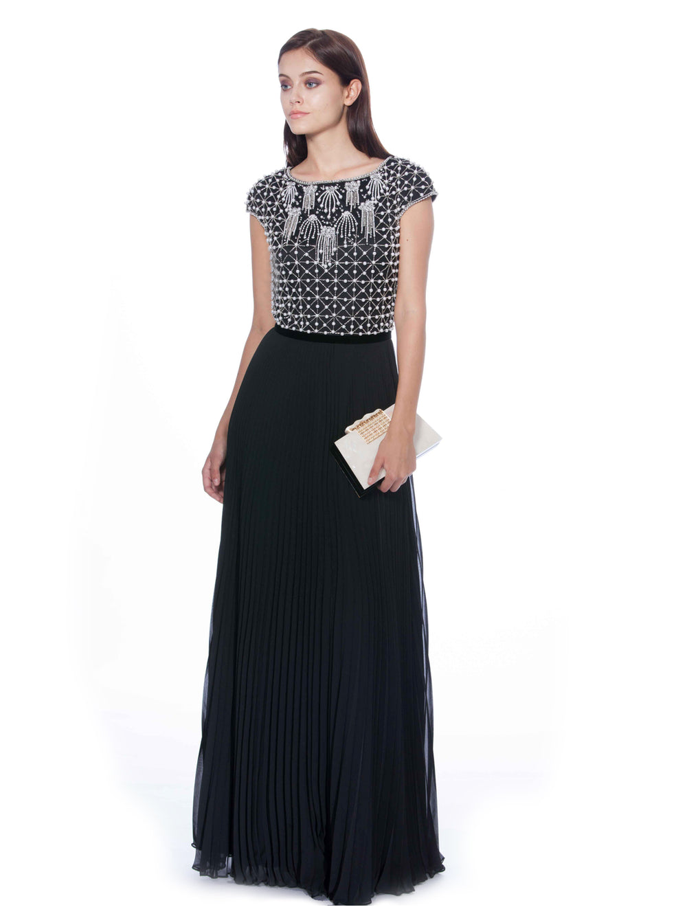 Beaded Floor-Length Gown, THEIA - elilhaam.com