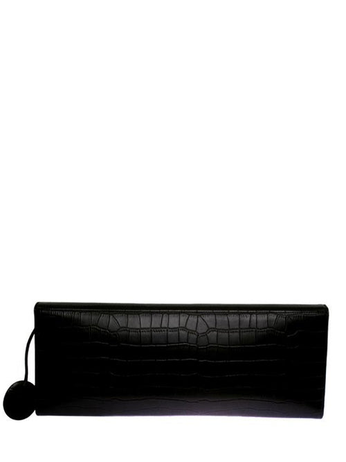 Black Patent Leather Clutch, GUY LAROCHE - elilhaam.com