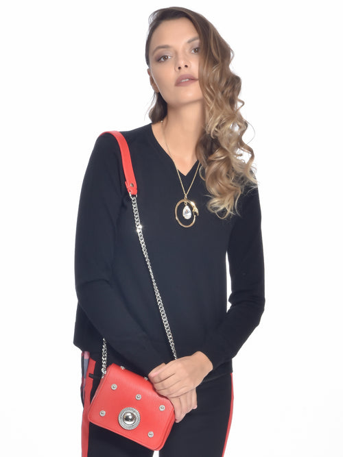 Open Back Knitted Sweater, VERSACE JEANS - elilhaam.com