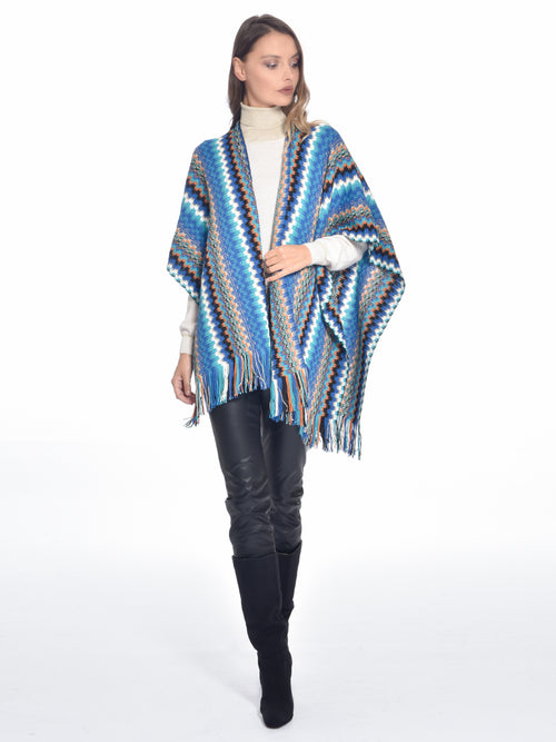 Knitted Blue/Black Cardigan, MISSONI - elilhaam.com