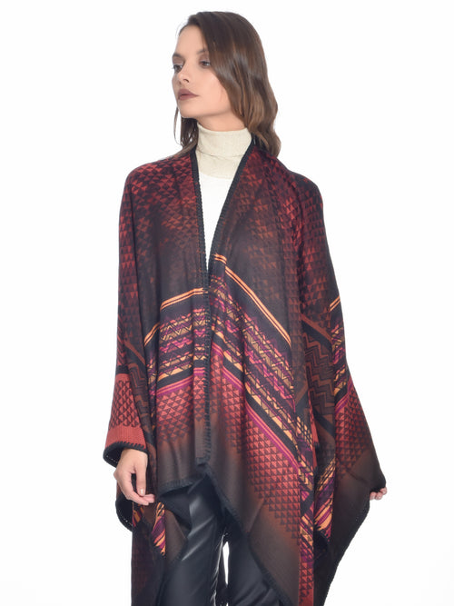 Crochet-knit Wool Poncho, MISSONI - elilhaam.com