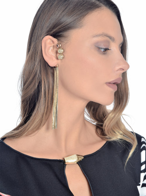 Fringe Ear cuff with Stud