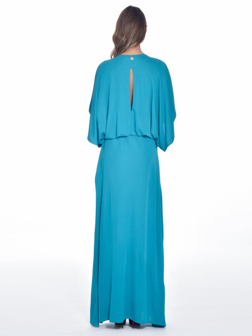 Astral Blue Maxi Dress, CAVALLI CLASS - elilhaam.com