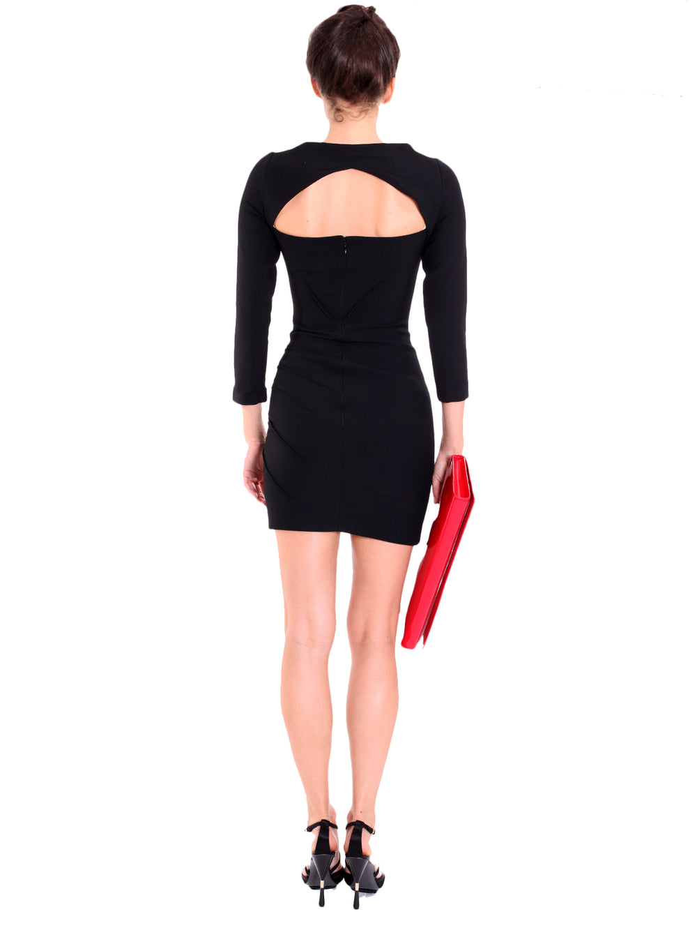 Structured Black Mini Dress, VERSACE - elilhaam.com